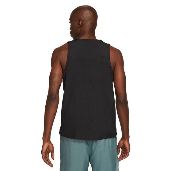 Nike Mens Miler Run Division Tank, Black, rebel_hi-res