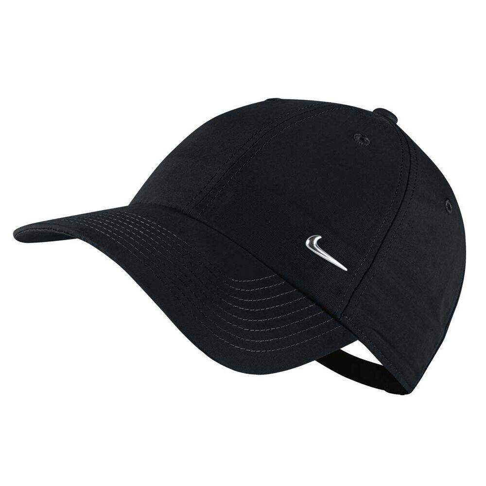 826e46e119c Nike Sportswear Metal Swoosh Heritage 86 Cap Black   Silver OSFA ...