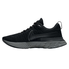 Nike React Infinity Run Flyknit 2 Womens Running Shoes Black US 6, Black, rebel_hi-res
