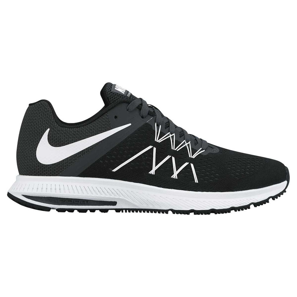 8c6a66847ffc4 Nike Zoom Winflo 3 Mens Running Shoes White   Black US 8.5