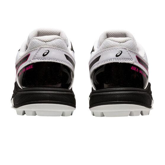 Asics GEL Peake Womens Rubber Cricket Shoes, White/Black, rebel_hi-res