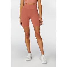 L'urv Womens Aura Seamless Shorts Pink S, Pink, rebel_hi-res