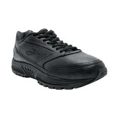 Brooks Dyad Walker Mens Walking Shoes Black / Black US 7, Black / Black, rebel_hi-res