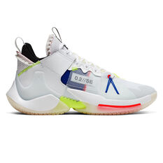 Nike Air Jordan Why Not Zer0.2 Mens Basketball Shoes White / Blue US 7, White / Blue, rebel_hi-res