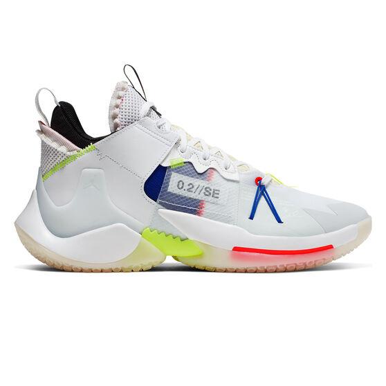 Nike Air Jordan Why Not Zer0.2 Mens Basketball Shoes, White / Blue, rebel_hi-res