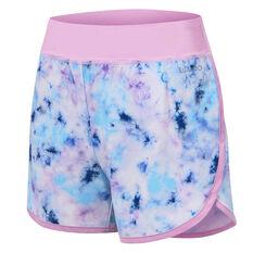 Ell & Voo Girls Ellie Shorts Purple 6, Purple, rebel_hi-res