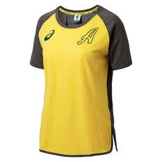 Cricket Australia 2018/19 Womens Supporter Tee Yellow 8, Yellow, rebel_hi-res