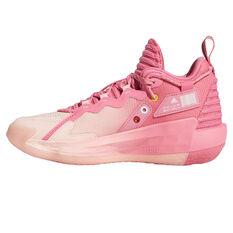 adidas Dame 7 Kids Basketball Shoes Rose US 4, Rose, rebel_hi-res