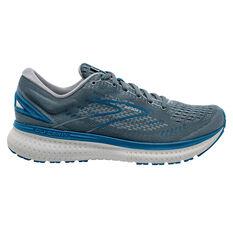 Brooks Glycerin 19 Mens Running Shoes Grey/Blue US 8, Grey/Blue, rebel_hi-res