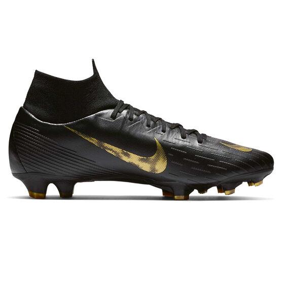 Nike Mercurial Superfly VI Pro Mens Football Boots, Black / Gold, rebel_hi-res