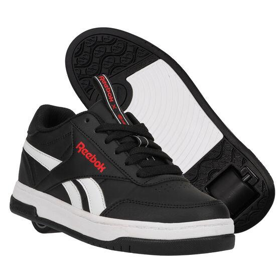 Reebok Court Low Heelys, Black/White, rebel_hi-res