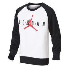 Nike Boys Jordan Jumpman Air Crew Sweatshirt Black / White S, Black / White, rebel_hi-res