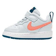 Nike Court Borough Low 2 Toddler Shoes Blue/Coral US 4, Blue/Coral, rebel_hi-res
