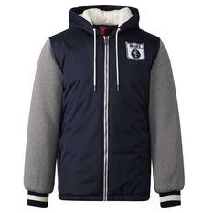 Carlton Blues Mens Sideline Jacket Blue S, Blue, rebel_hi-res