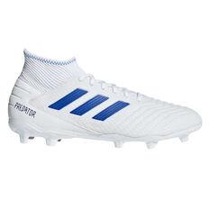 adidas Predator 19.3 Football Boots White / Blue US Mens 7 / Womens 8, White / Blue, rebel_hi-res