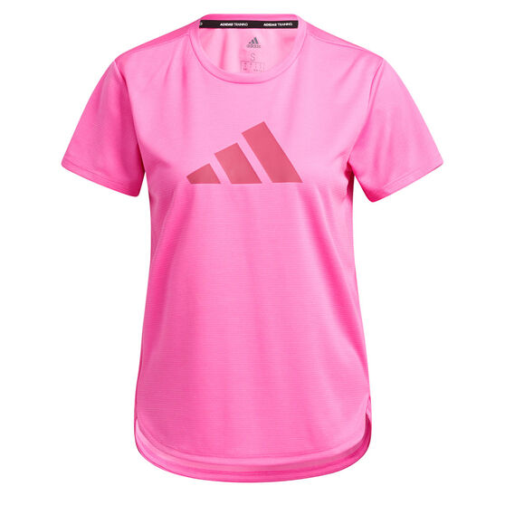 adidas Womens Badge Of Sport Training Tee, Pink, rebel_hi-res