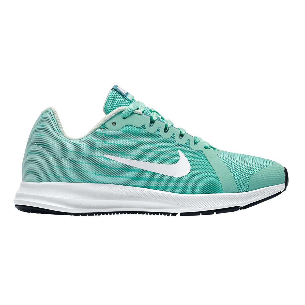 Nike Downshifter 8 Girls Running Shoes Green White US 7