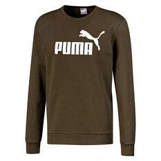 Puma Mens Essentials Big Logo Fleece Sweatshirt Green S, Green, rebel_hi-res