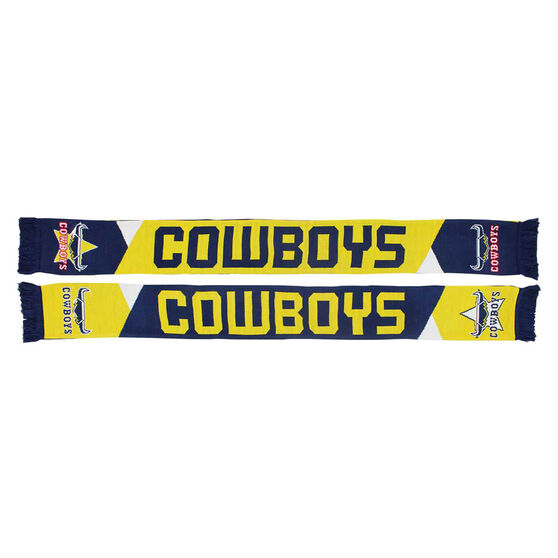 North Queensland Cowboys Geo Jacquard Scarf, , rebel_hi-res