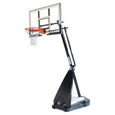 Spalding 54in Glass NBA Ultimate Hybrid Basketball System, , rebel_hi-res