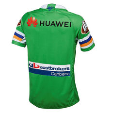 Canberra Raiders 2019 Mens Home Jersey Green S, Green, rebel_hi-res