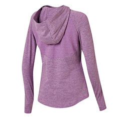 Ell & Voo Womens Amelia Hoodie Purple XS, Purple, rebel_hi-res