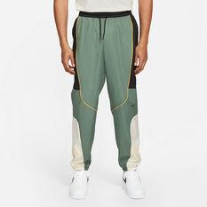 Nike Mens Throwback Basketball Pants Green S, Green, rebel_hi-res