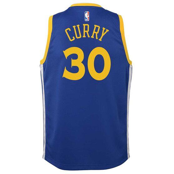 Nike Golden State Warriors Stephen Curry 2019 Kids Swingman Jersey Rush Blue XL, Rush Blue, rebel_hi-res