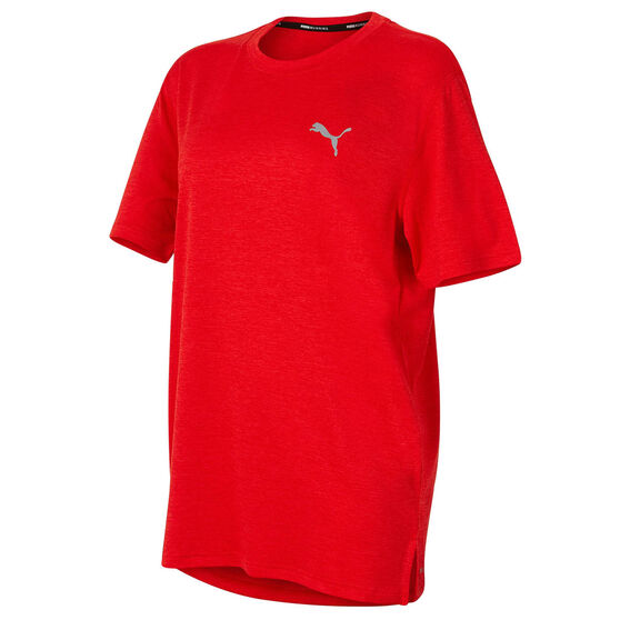 Puma Mens Ignite Heather Tee, Red, rebel_hi-res