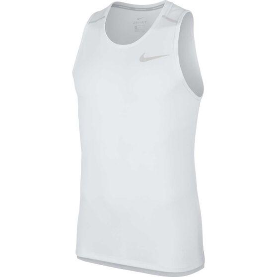 Nike Mens Dri-FIT Miler Running Tank, Grey, rebel_hi-res