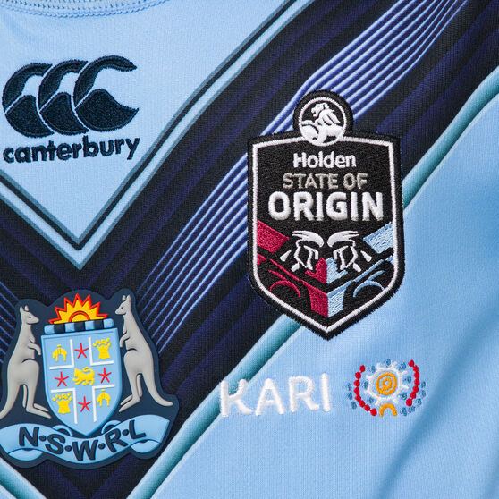 NSW Blues State of Origin 2020 Kids Home Jersey, Blue, rebel_hi-res
