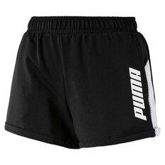 Puma Womens Modern Sports Shorts Black / White XS, Black / White, rebel_hi-res