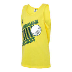 Cricket Australia 2019/20 Kids World Series Supporter Singlet Yellow 8, Yellow, rebel_hi-res