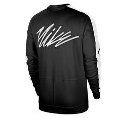 Nike Mens Dri-FIT Fleece Training Top Black S, Black, rebel_hi-res