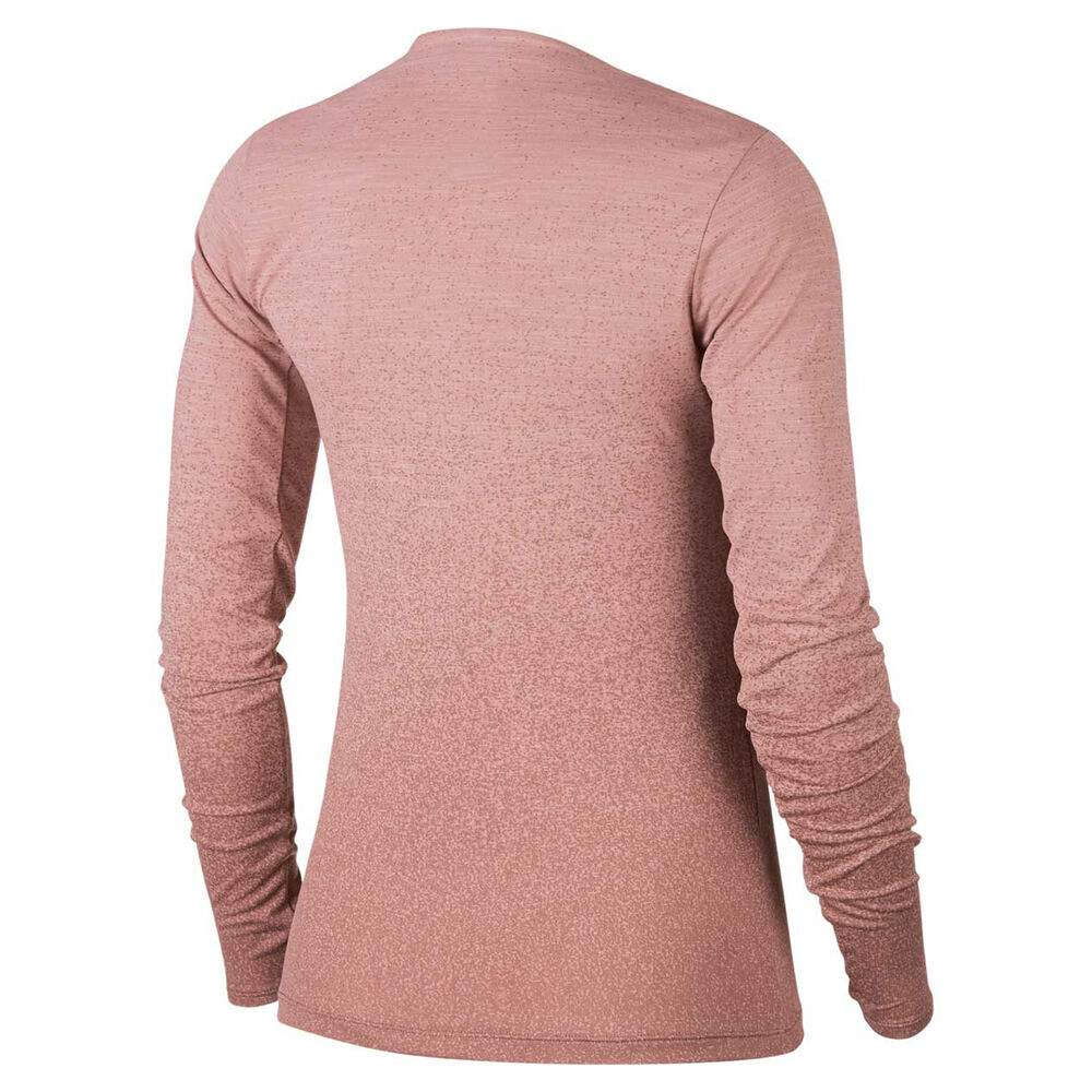 26e68adbba8bf Nike Womens Medalist Long Sleeve Tee Pink XS, Pink, rebel_hi-res