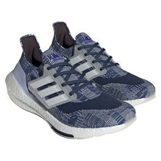 adidas Ultraboost 21 Primeblue Mens Running Shoes, Blue/White, rebel_hi-res