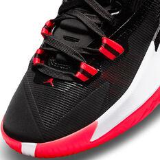 Jordan Zion 1 Black White Bright Crimson Kids Basketball Shoes, Black, rebel_hi-res