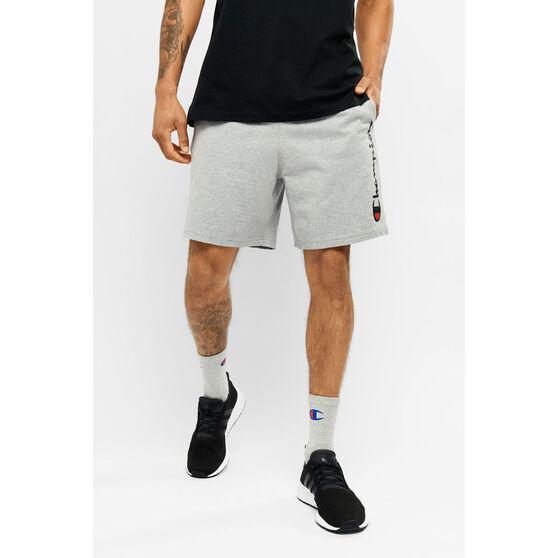 Champion Mens Script Jersey Shorts, Grey, rebel_hi-res