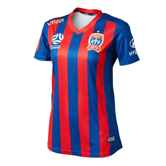 Newcastle Jets FC 2019/20 Womens Home Jersey, Blue / Red, rebel_hi-res