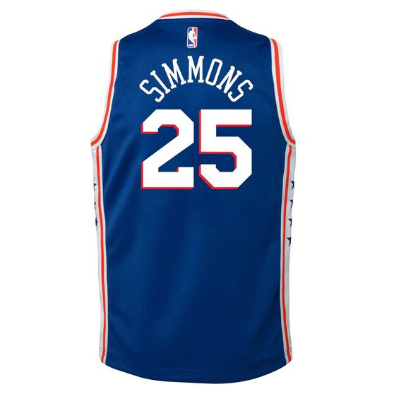 Nike Philadelphia 76ers Ben Simmons 2019 Kids Swingman Jersey, Rush Blue, rebel_hi-res