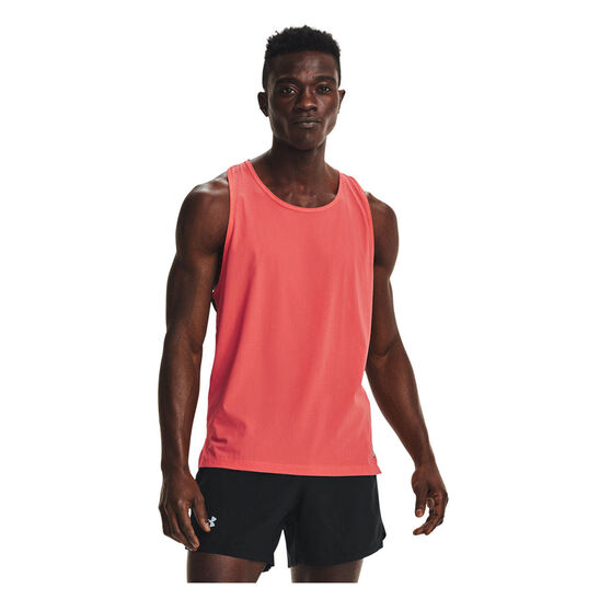 Under Armour Mens Run Anywhere Singlet, Red, rebel_hi-res
