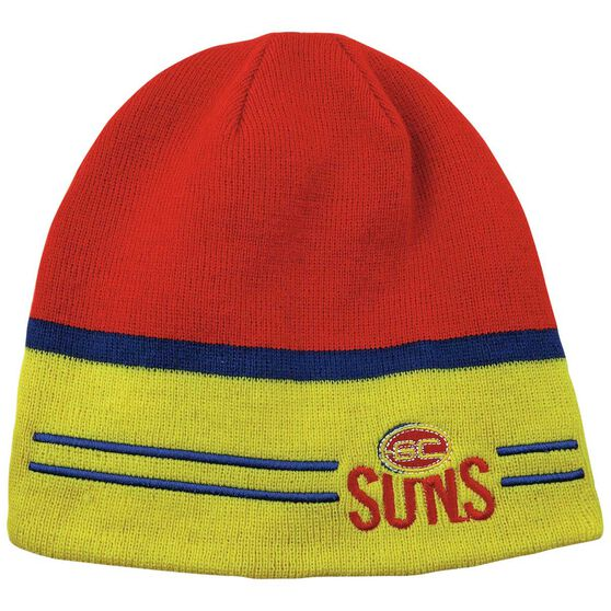 Gold Coast Suns Reversible AFL Beanie OSFA, , rebel_hi-res