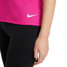 Nike Womens Running Tank, Pink, rebel_hi-res