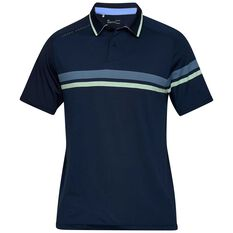 Under Armour Mens Tour Tips Drive Polo Navy S, Navy, rebel_hi-res