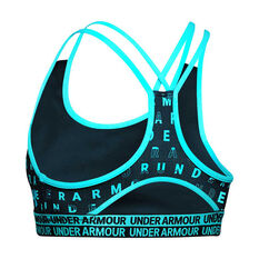 Under Armour Girls HeatGear Novelty Bra, Teal, rebel_hi-res