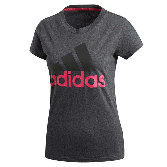 adidas Womens Essentials Linear Slim Tee Grey XS, Grey, rebel_hi-res
