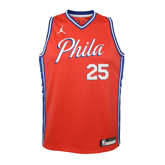 Jordan Philadelphia 76ers Ben Simmons 2020/21 Infant Statement Swingman Jersey Red 4, Red, rebel_hi-res