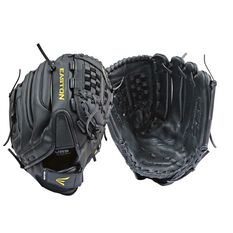 Easton Reflex Cowhide Right Hand Glove Black / Yellow 13in, , rebel_hi-res