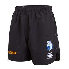 North Melbourne Kangaroos 2019 Mens Gym Shorts Black S, Black, rebel_hi-res