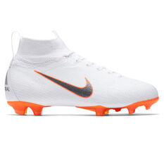 Nike Mercurial Superfly VI Elite Junior Football Boots, White / Grey, rebel_hi-res
